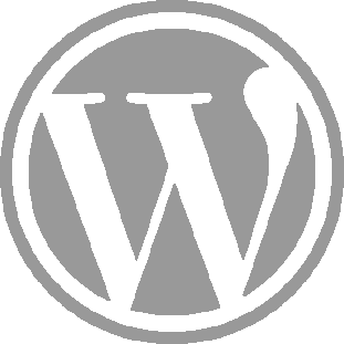 wordpress logo grey